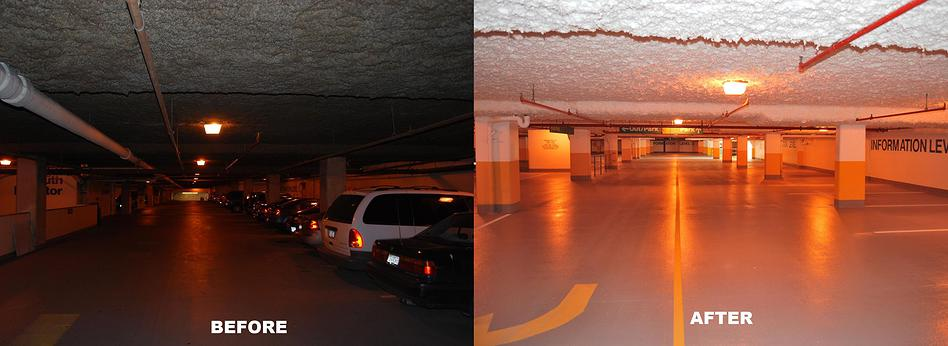 Before parking garage repair